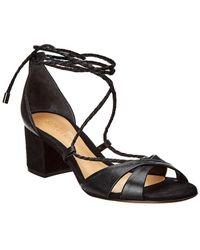 52ff3e55cb Via Spiga Tiana Slingback Block Heel Sandal in Black - Lyst