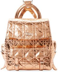 Dior - Crinkled Metallic Leather Backpack - Lyst