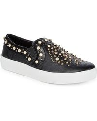 Vince Camuto - Casintia Studded Leather Trainers - Lyst