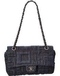 Chanel - Limited Edition Blue Denim Medium Single Flap Bag - Lyst