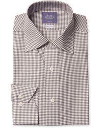 Near North - Gingham Trim Fit Dress Shirt - Lyst