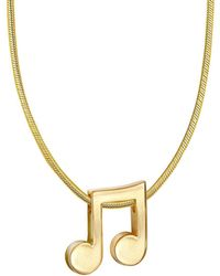 Alex Woo - 14k Yellow Gold Music Note Necklace - Lyst
