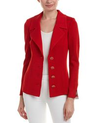 St. John - Wool & Silk-blend Blazer - Lyst