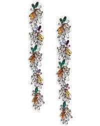 Cara - Floral Leaf Earrings - Lyst