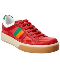53acf0b5cac Lyst - Gucci Falacer Lurex Gg Sneaker With Web in Blue for Men