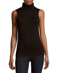 Saks Fifth Avenue Black - Heathered Bodycon Sleeveless Top - Lyst