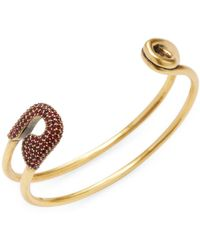Marc Jacobs - Crystal Safety Pin Cuff Bracelet - Lyst