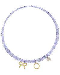 Meira T - 14k Diamond & Tanzanite Bracelet - Lyst