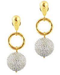 Gurhan - Spell 24k & 18k 3.20 Ct. Tw. Diamond Drop Earrings - Lyst