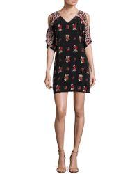 Ella Moss - Printed V-neck Dress - Lyst