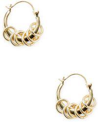 Shashi - Jasmine Hoop Earrings - Lyst