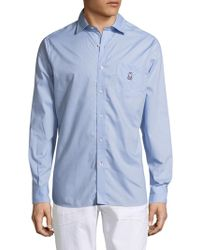 Psycho Bunny | Cotton Sportshirt With Back Pleats | Lyst