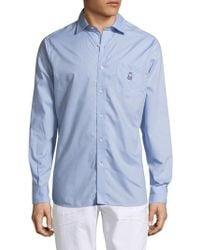 Psycho Bunny - Cotton Sportshirt With Back Pleats - Lyst