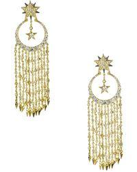 Noir Jewelry - Among The Stars Chandelier Earrings With Cz - Lyst