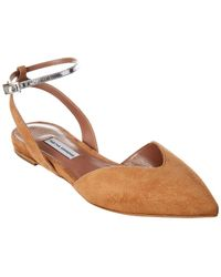 Tabitha Simmons Vera Suede Flat - Brown
