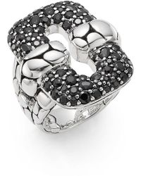 John Hardy - Kali Black Sapphire & Sterling Silver Ring - Lyst