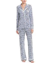 Cosabella - Bella Printed Long Sleeve Top & Pant Pyjama Set - Lyst