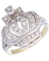 Estate Fine Jewelry - Diamond Crown Ring - Lyst