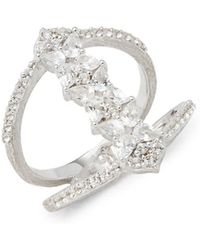 Jude Frances - Sterling Silver & White Topaz Studded Ring - Lyst