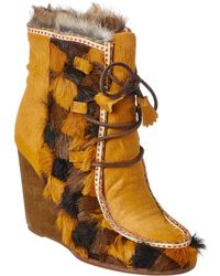 Frye - Parker Patch Wedge Bootie - Lyst
