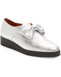 F-Troupe - Metallic Leather Loafer - Lyst