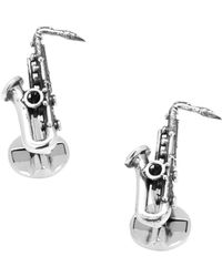 Ox and Bull Trading Co. - Sterling Silver Saxophone Cufflinks - Lyst