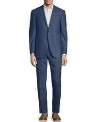 Corneliani - Wool Suit With Flat Front Pant - Lyst