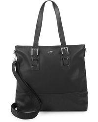 Armani Jeans - Large Leather Shoulder Bag - Lyst