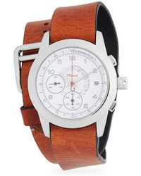 Miansai - Stainless Steel Chronograph Double Leather-strap Watch - Lyst