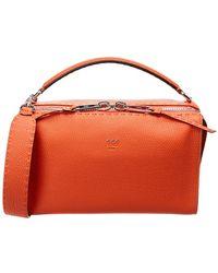 Fendi - Lei Selleria Leather Boston Bag - Lyst