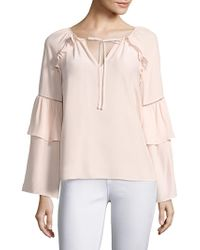 Parker - Saturday Bell Sleeve Silk Blouse - Lyst