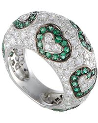 De Grisogono - 18k 4.51 Ct. Tw. Diamond & Emerald Ring - Lyst