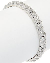Nadri - Plated Crystal Woven Bracelet - Lyst
