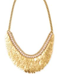 Deepa Gurnani - Feather & Crystal Statement Necklace - Lyst