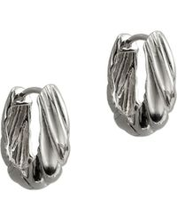 Argento Vivo - Small Textured Huggie Hoops - Lyst