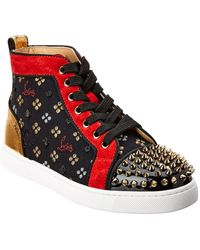 Christian Louboutin - Spike Loubisky High Top Sneakers - Lyst