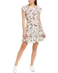 Rebecca Taylor Sofia Silk A-line Dress - White