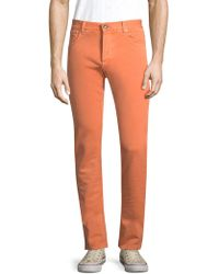 Isaia - Solid Woven Jeans - Lyst