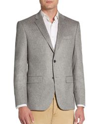 Saks Fifth Avenue | Trim-fit Zeiss Solid Cashmere Sportcoat | Lyst