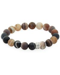 Link Up - Agate Beaded Bracelet - Lyst