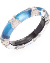 Alexis Bittar - Lucite Pave Edge Segment Bangle Bracelet - Lyst