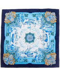 """Hermès - """"azulejos,"""" By Catherine Baschet Silk Scarf - Lyst"""