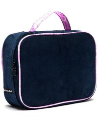 "Melissa Beth - Deep Blue ""kiss And Make Up"" Cosmetic Bag - Lyst"