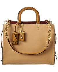 COACH - Rogue Colorblocked Leather Tote - Lyst