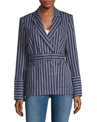 Laundry by Shelli Segal - Stripe Double-breasted Blazer - Lyst