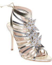 Aperlai - Leather High Heel Sandal - Lyst