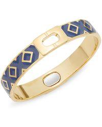 Diane von Furstenberg - Holiday Pave Geometric Bangle Bracelet - Lyst