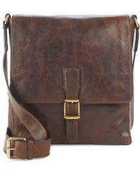 Frye - Logan Small Leather Messenger Bag - Lyst