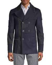 Valentino - Caban Double-breasted Wool Coat - Lyst