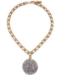 Lulu Frost Cupola Plated Crystal Necklace